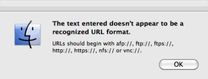 Message from finder