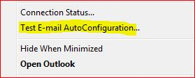 Click Test AutoConfiguration