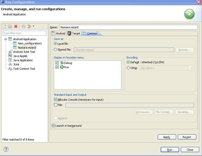 Run Configurations Common Module