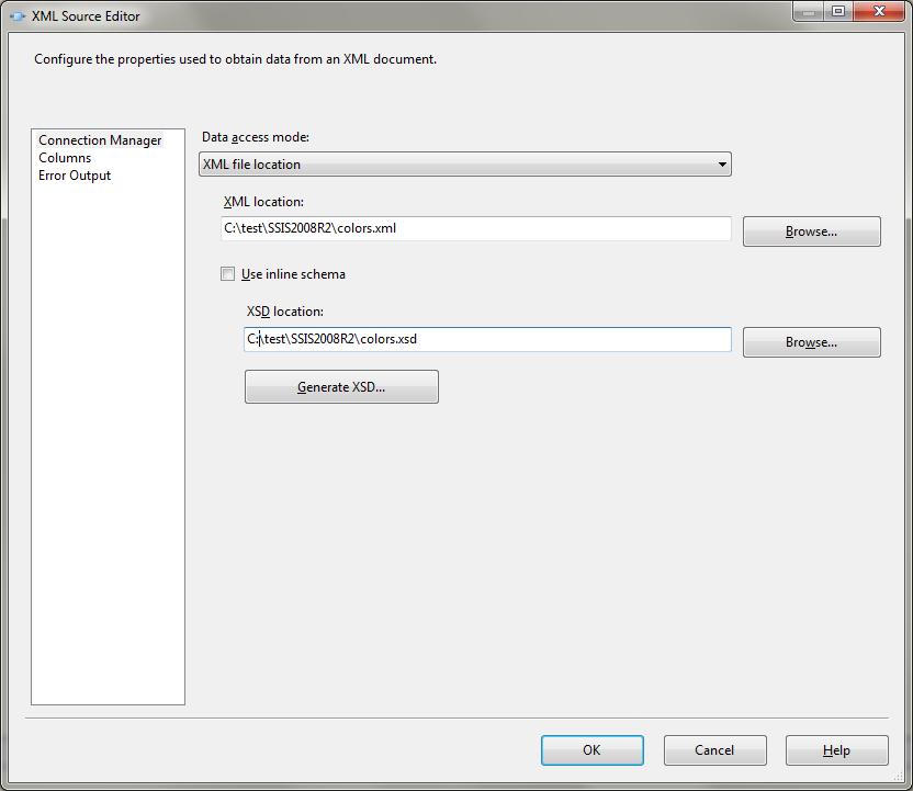 Loading XML Using SSIS