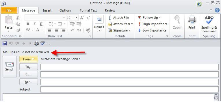 MailTips not working