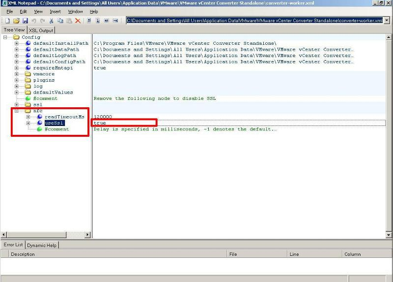 Edit converter-worker.xml using XML Notepad - value - true
