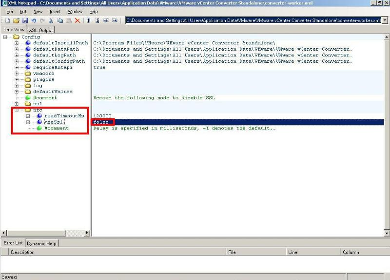 Edit converter-worker.xml using XML Notepad - value - false