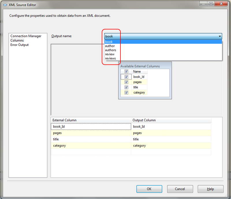 XML Source generates multiple outputs