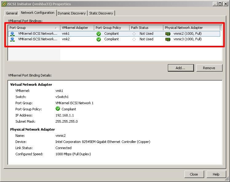 HOW TO: Add an iSCSI Software Adaptor and Create an iSCSI