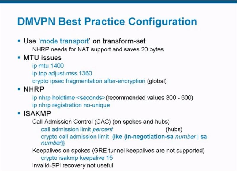 DMVPN Best Practice Slide