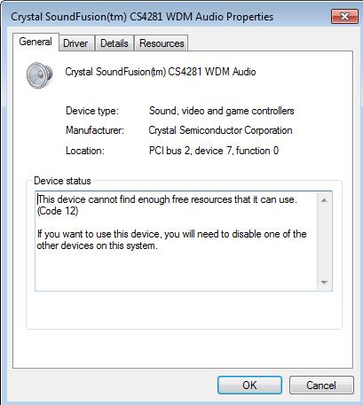 crystal cs4281 cm ep driver windows 7 free download