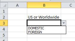 Drop down values