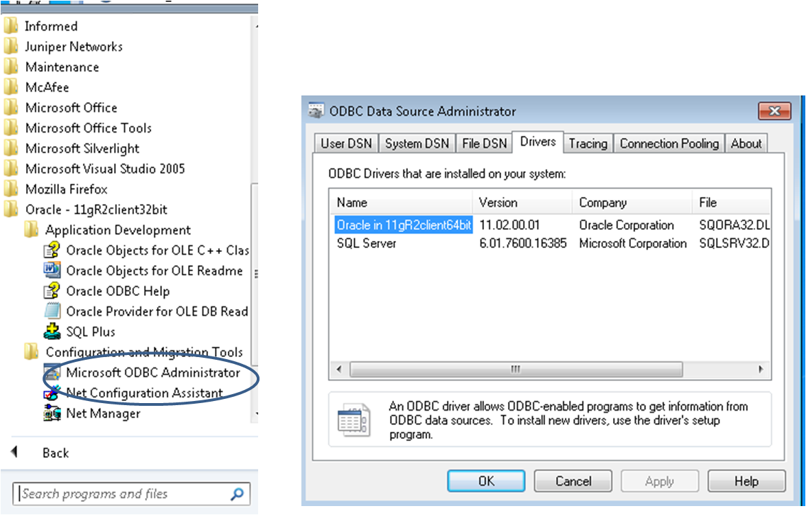 ODBC Connection Error to Oracle 11g from Access 2007
