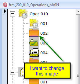 Changing image of a child node in a TreeView control