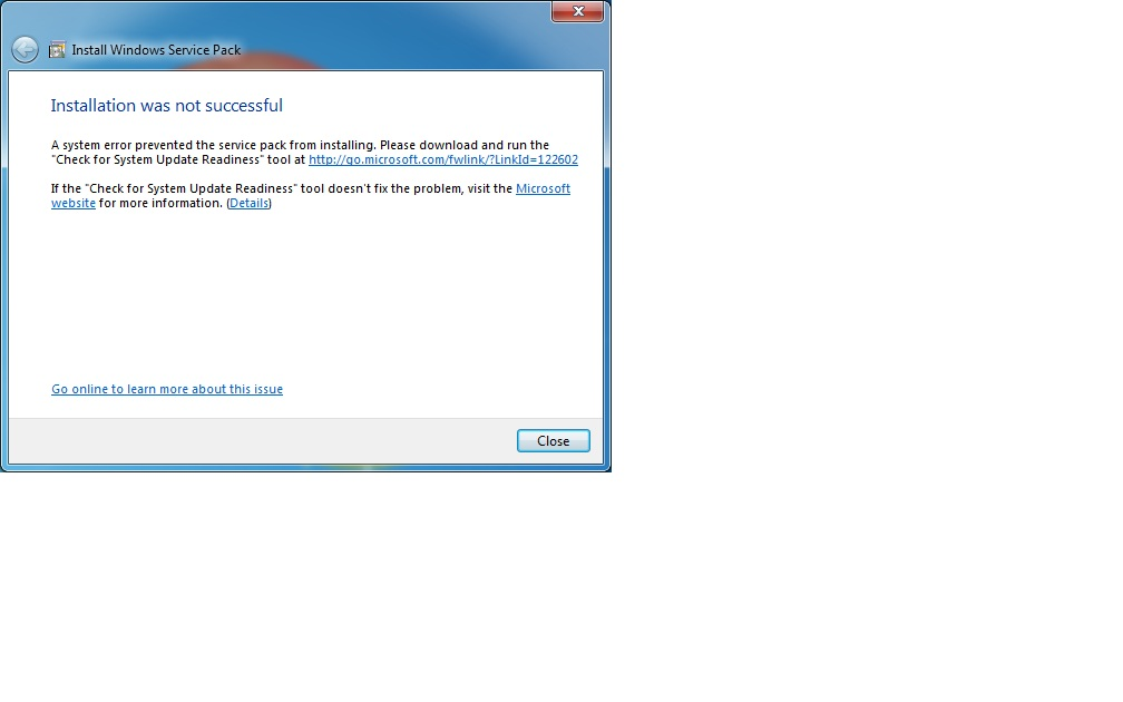 system update readiness tool windows 7 without sp1