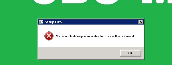Windows Installer Error