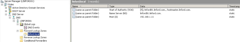 DNS screenshot