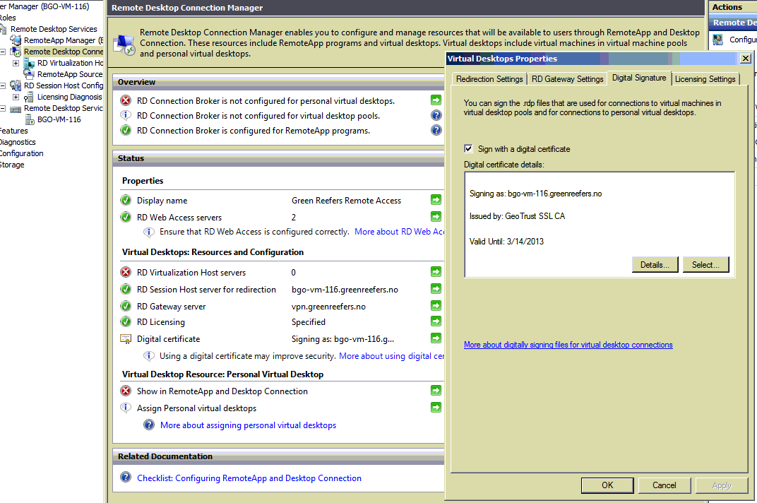 Solution Remote Desktop Session Host Shows Old Self Signed Ssl