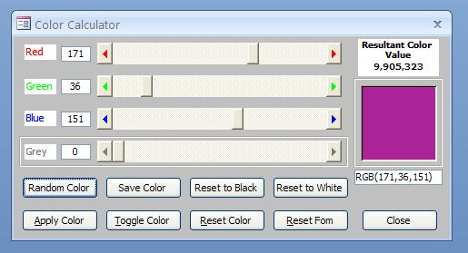 Home Made Color Picker
