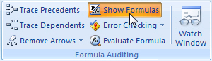 Show Formulas button