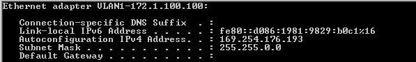 Command Line ipconfig