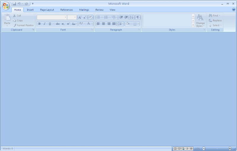 Screenshot after double clicking on word document from windows explorer.