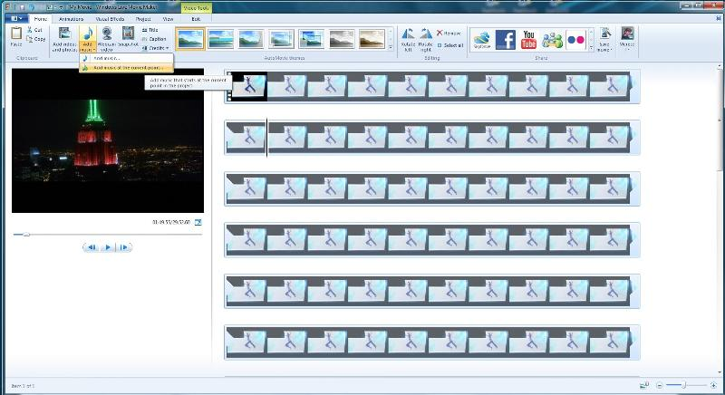 Windows live moviemaker adding clip