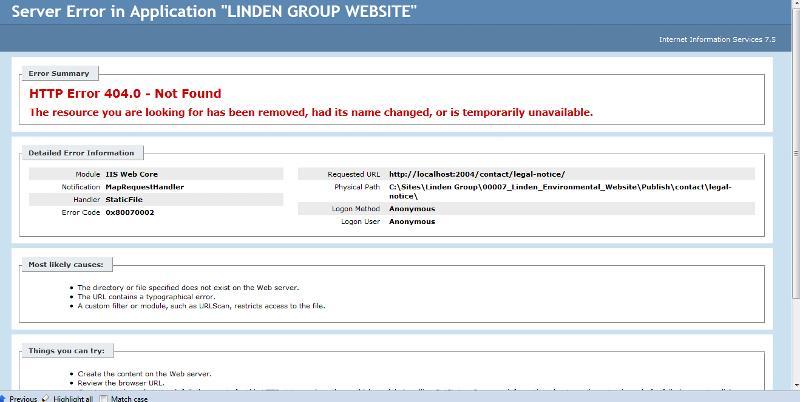 ASP.Net 404 Error Page