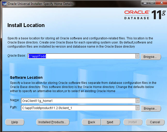 What is the difference between the Oracle Base Directory and