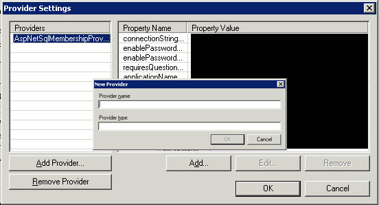 IIS Authentication Provider Settings