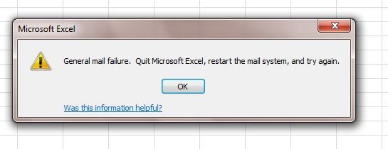 Office 2010 Save and Send not working