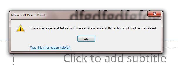 save and send error