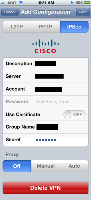 iPhone IPSEC configuration