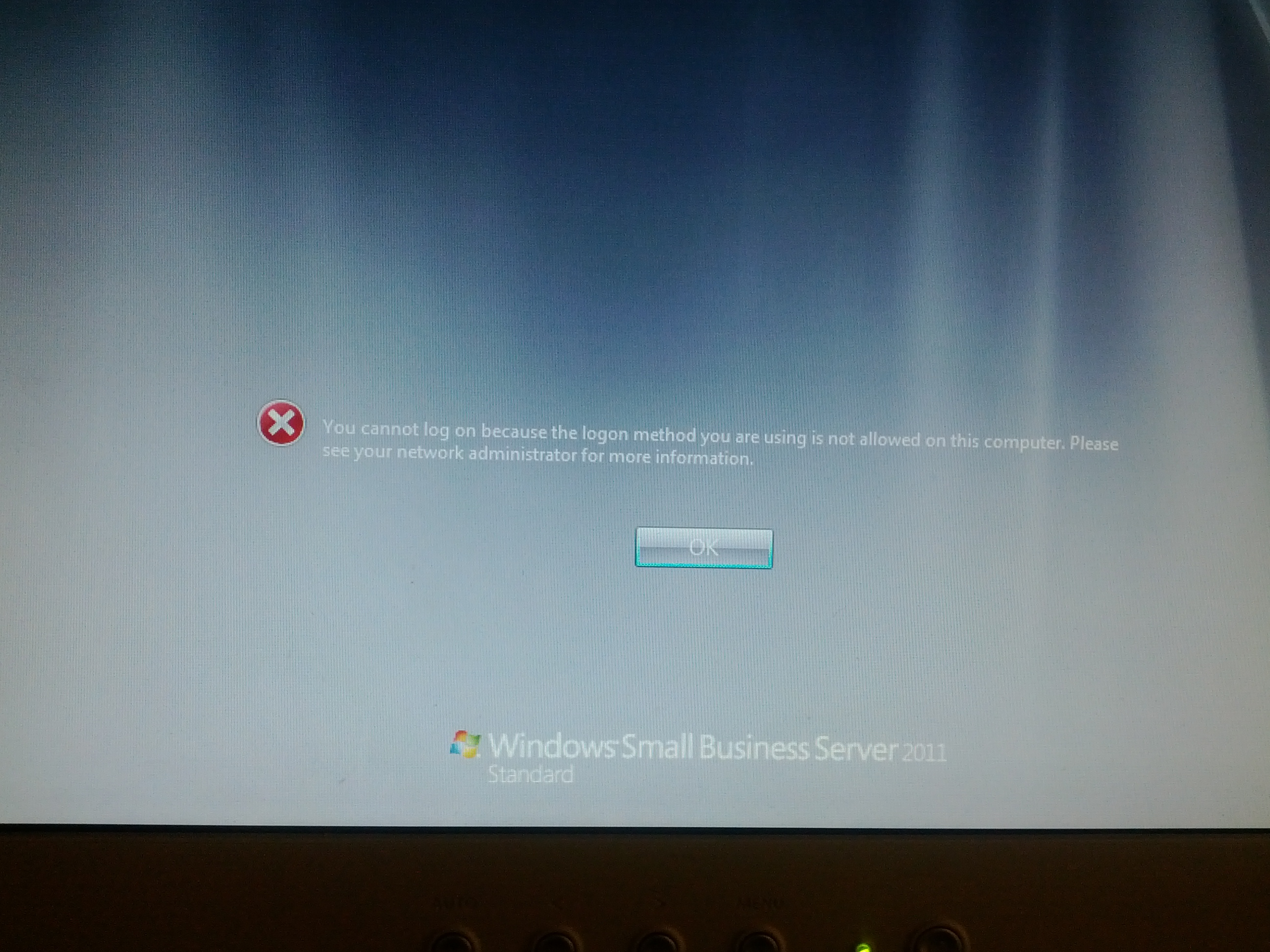 windows 7 cannot log in