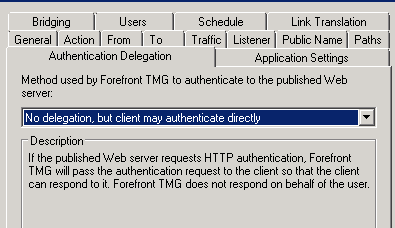 No delegation but client may authenticate directly.