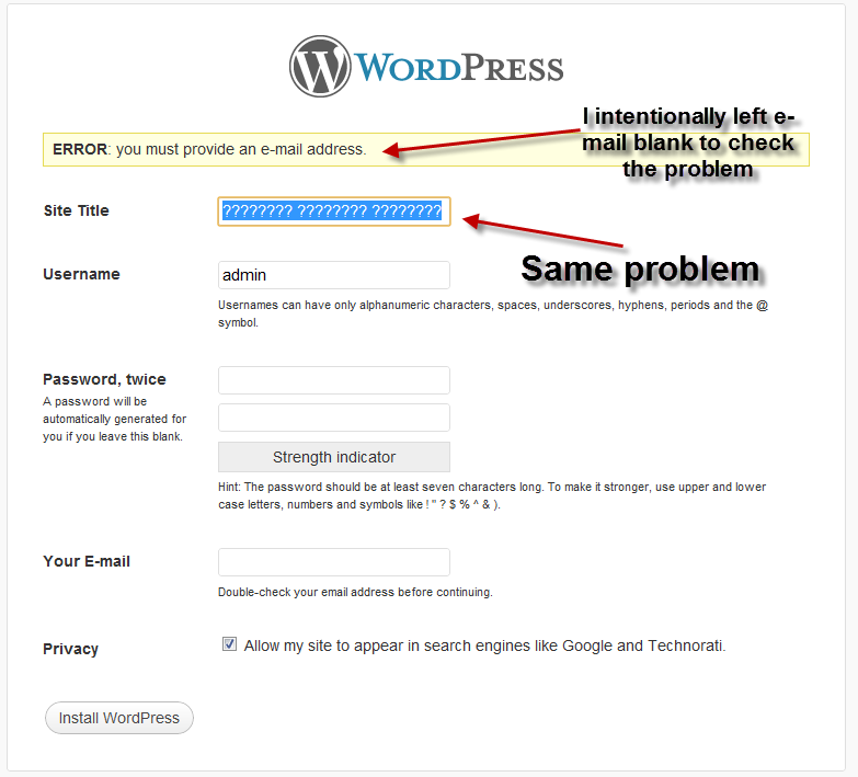 WordPress also joined the club of same problem - not only Joomla
