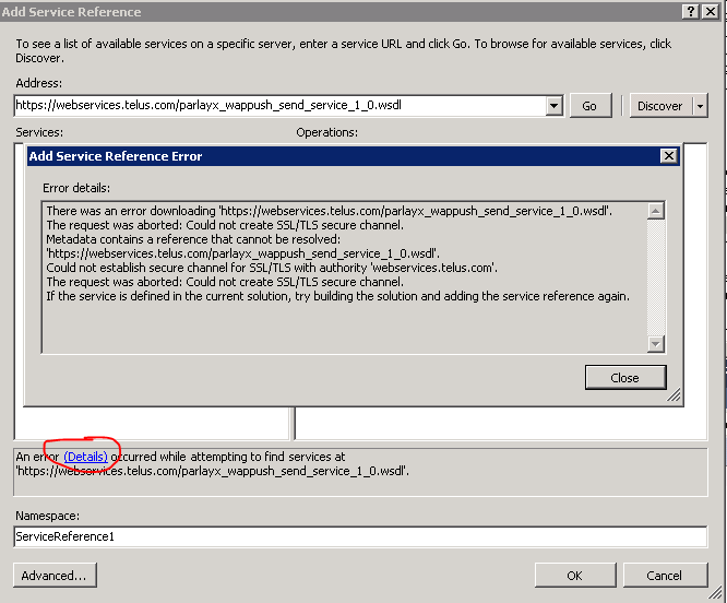 NET WebService client with certificates