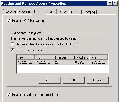 SSTP VPN Settings