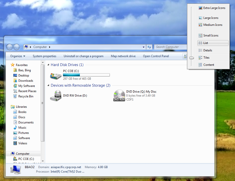 Windows Explorer - List View