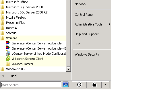 vCenter Folder in Program Files