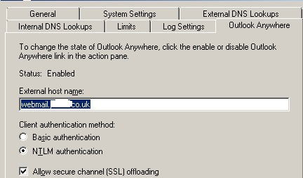 NTLM settings in Exchange MAnagement shell