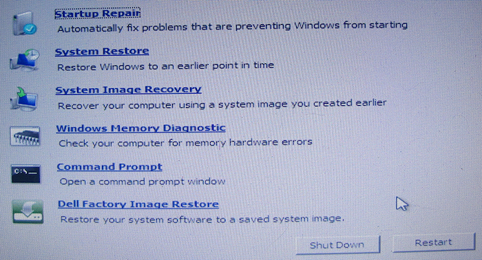 Win7 - Dell Factory Image Restore