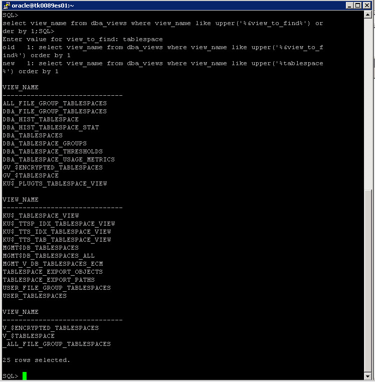 SQL Command Results