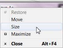 Save As - window submenu