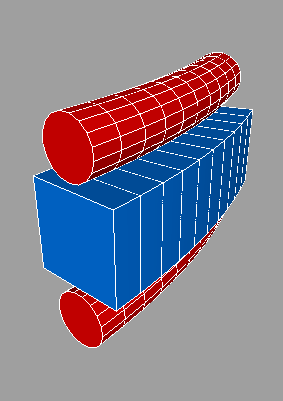 Example Logo Extruded in an Arc