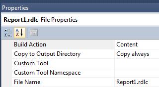 rdlc File Properties (Content)