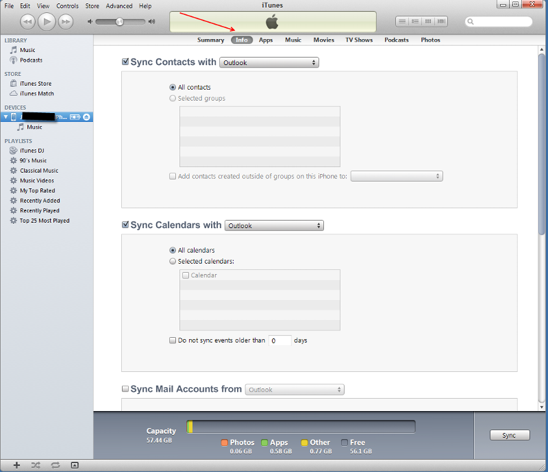 iTunes-Outlook-Sync