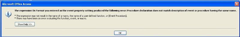 Formatting Error