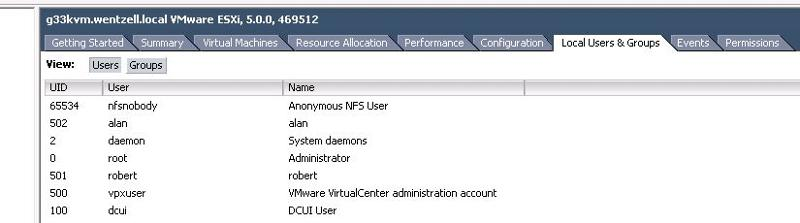 Image of VMware Local Users and Groups