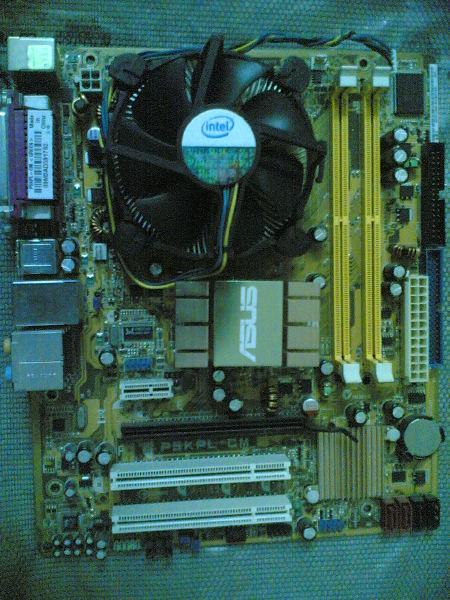 heat sink & fan with push down screws
