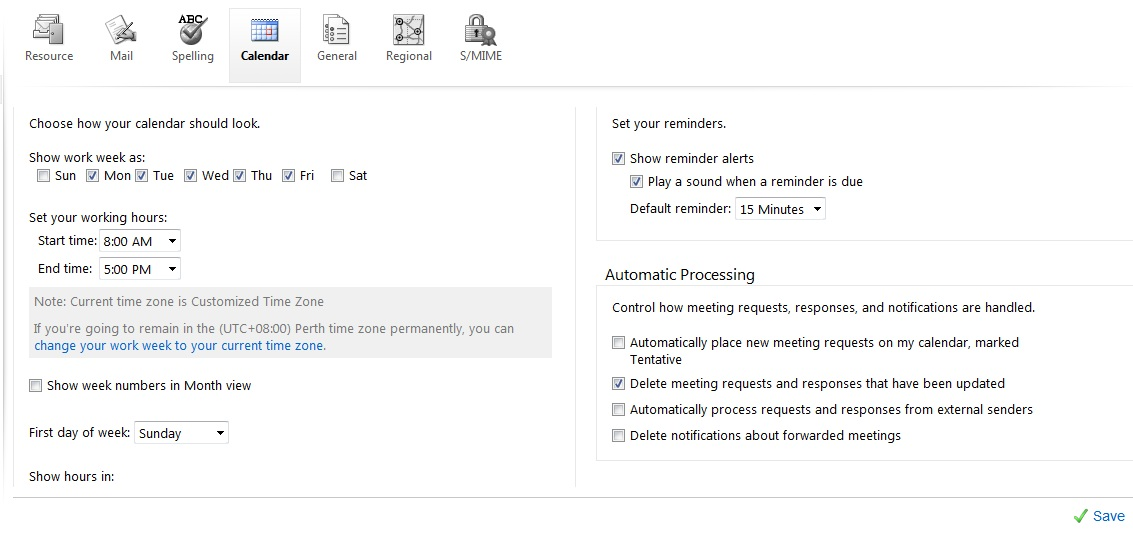 How do I set up automatic declining of conflicting meetings in a