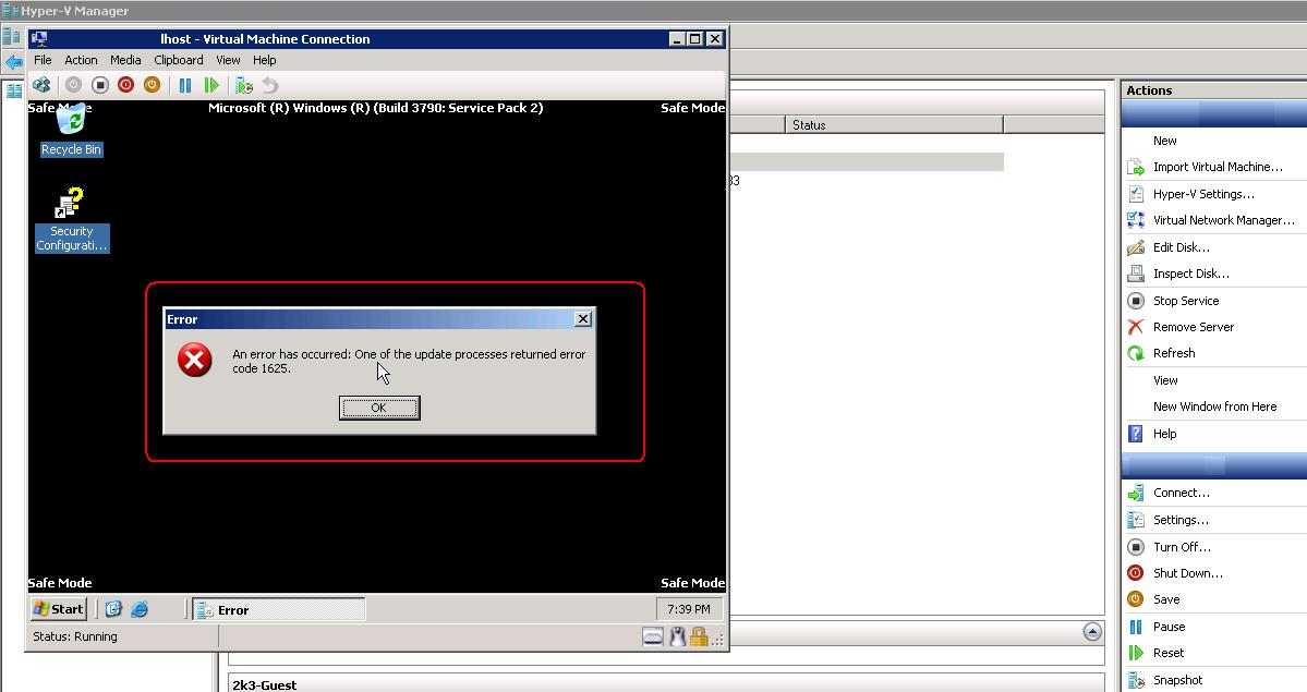 SOLUTION] HyperV integration Service installation error in Safe-mode