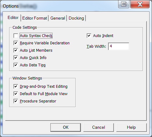 Figure 18: The Options dialog box.