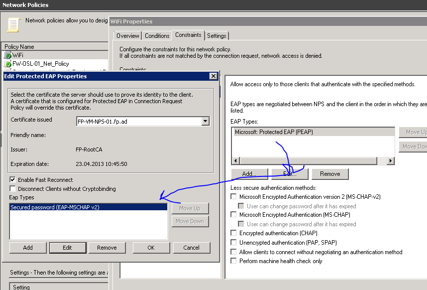 802 1x wireless autentication without certificate